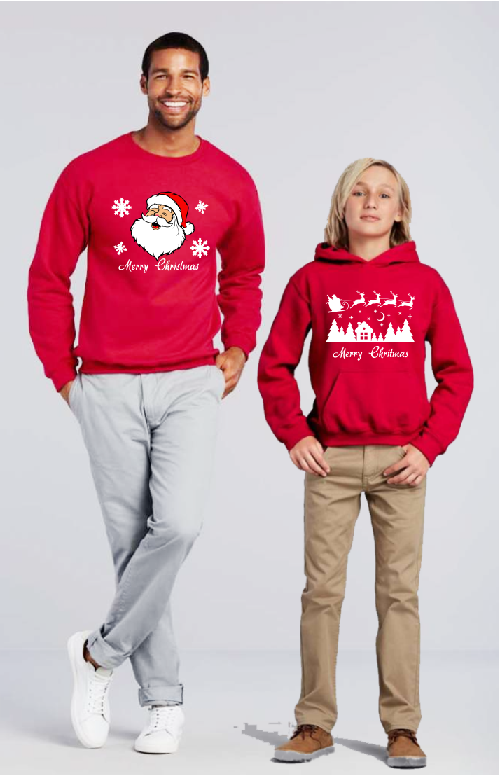 Karácsonyi mintás téli pulóver felnőtt és gyerek Póló